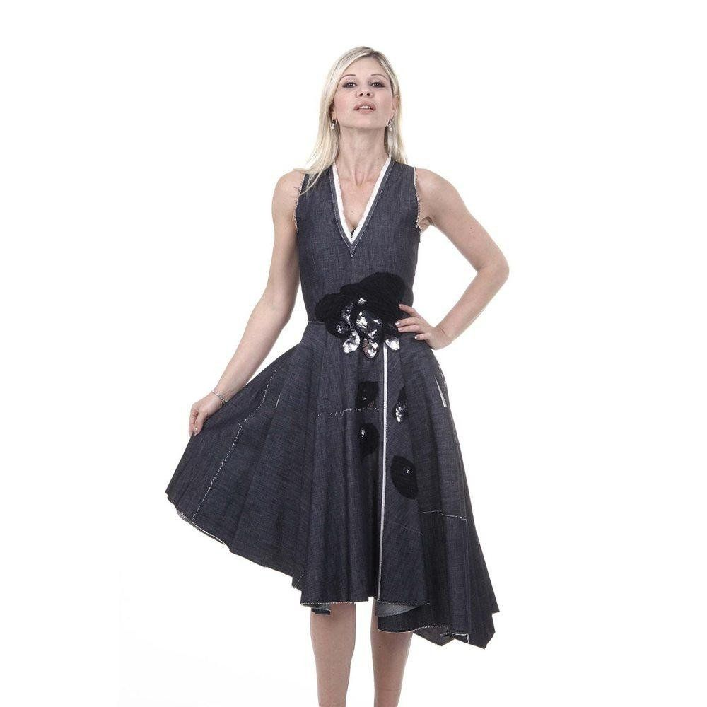 Dress for Women, Evening Cocktail Party On Sale in Outlet, Black, viscosa, 2017, 10 Bottega Veneta