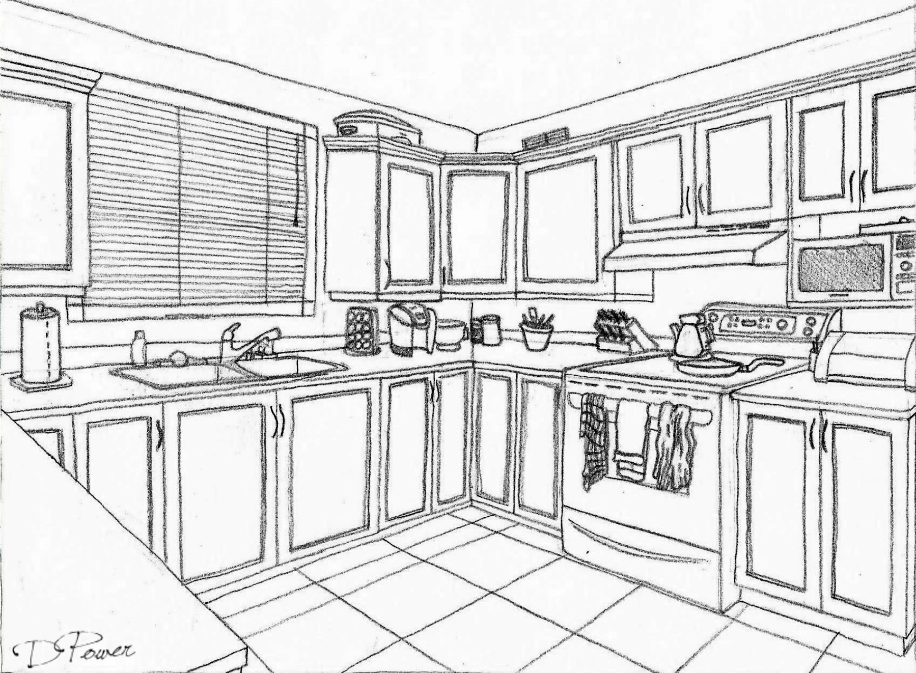 Two Point Perspective 2017 Perspective Drawing Interior Sketch