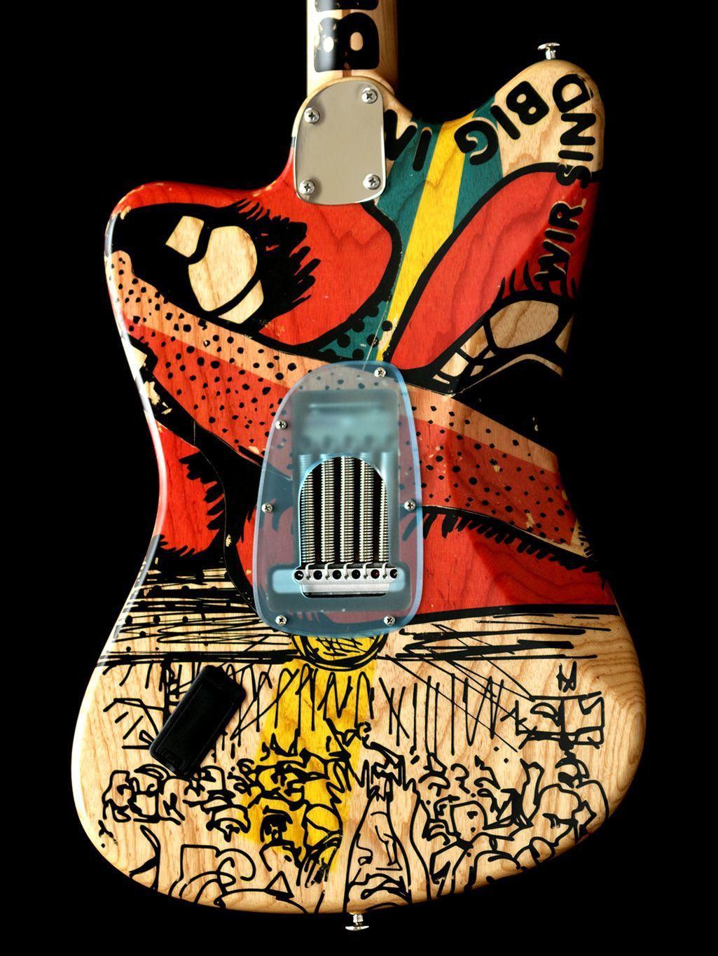 Deimel Firestar Artist Edition Berlin Tonight Art By Kora Junger Guitar Art Guitar Design Instruments Art