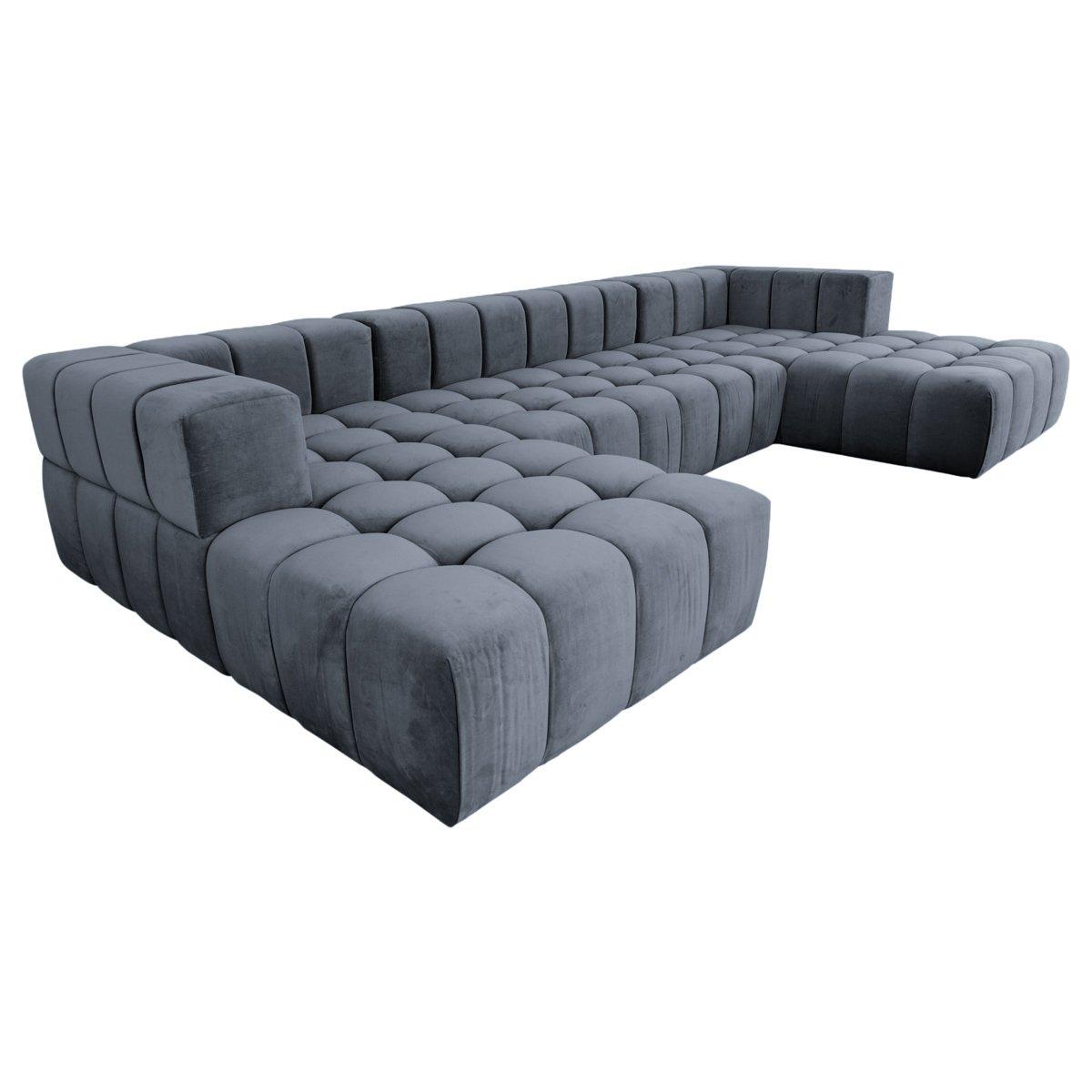 Delano Modular Sectional In Velvet Modular Sectional Furniture