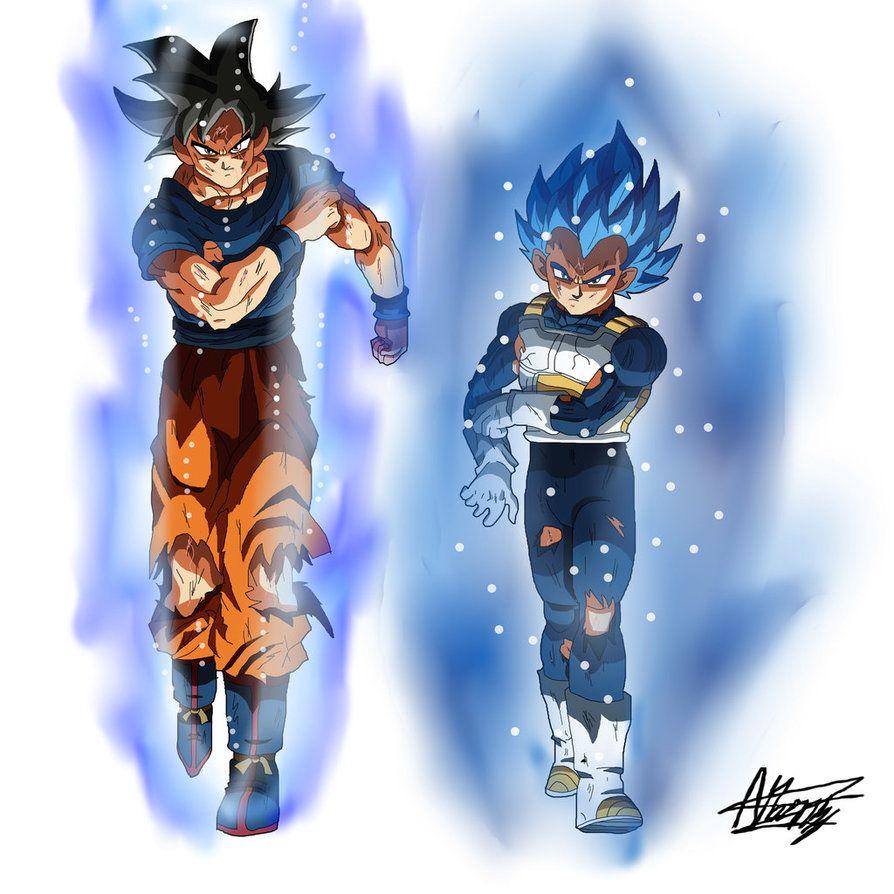 Goku Ultra Instinct And Vegeta Beyond Blue Efects By Black X12 Dragon Ball Super Goku Anime Dragon Ball Dragon Ball Super