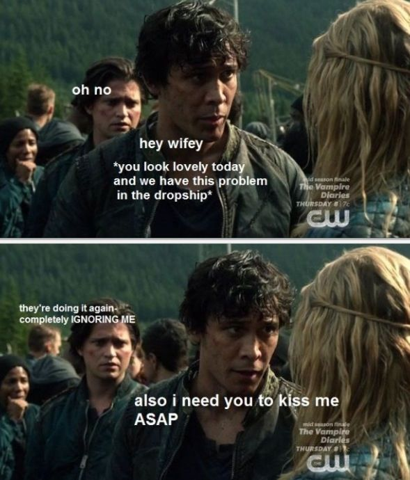 // The 100 // literally dying // Bellarke forever //