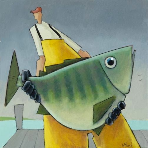 Artodyssey: David Witbeck Fisherman with catch