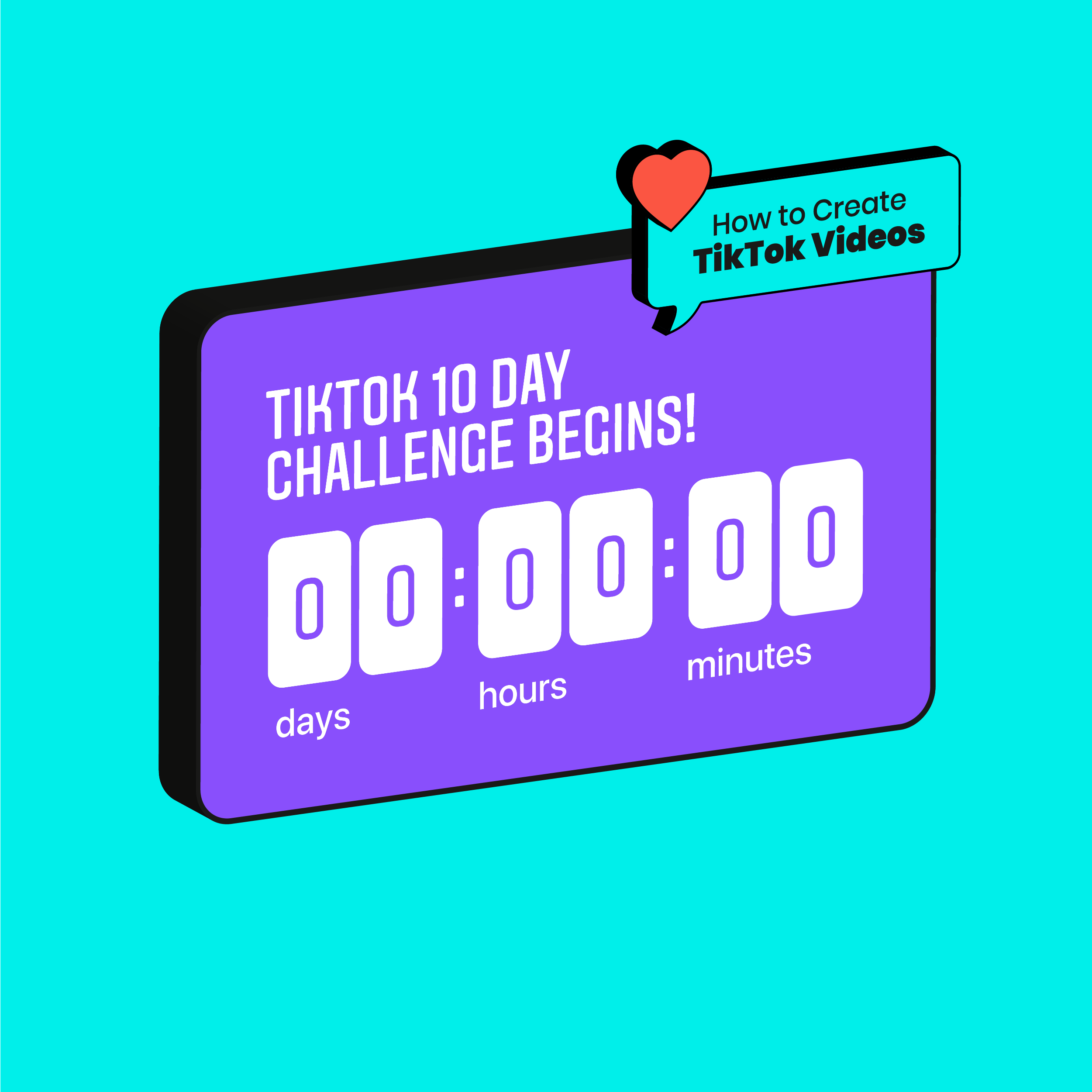 How To Create Tiktok Videos For Your Brand Social Media Design 10 Day Challenge Best Time To Post
