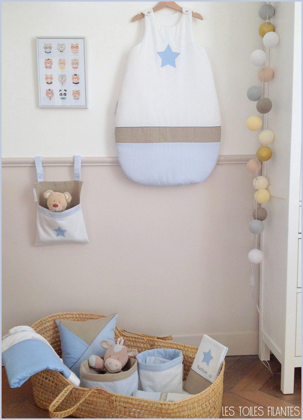 Chambre Bleu Ciel Et Lin déco chambre de bébé bleu ciel et lin création les toiles