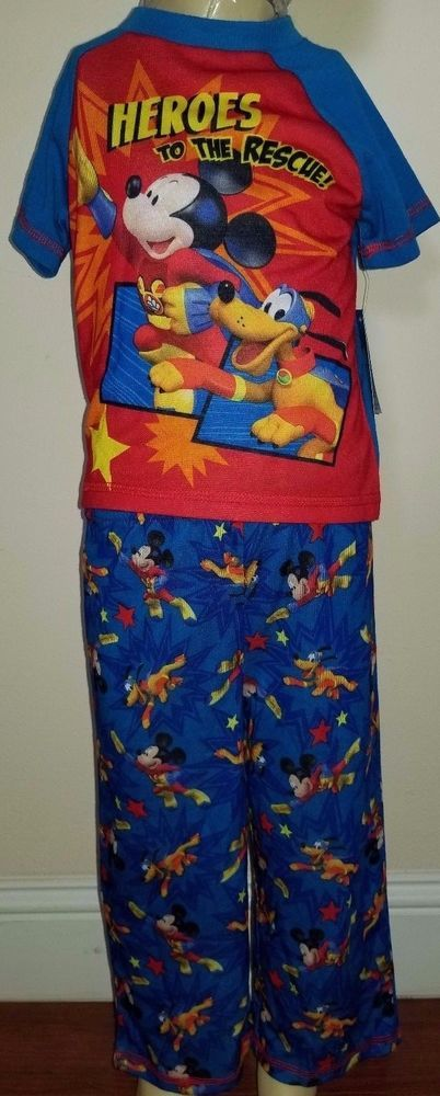 72a6c6ba0e40 Disney Mickey Mouse Clubhouse Boys 2 Piece Blue And Red Pajama Set ...