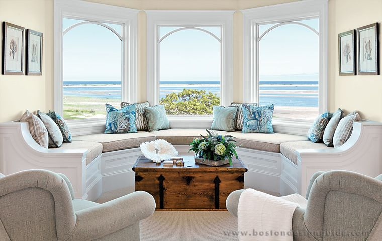 Love this window seat! And the view;) Beach Houses Pinterest