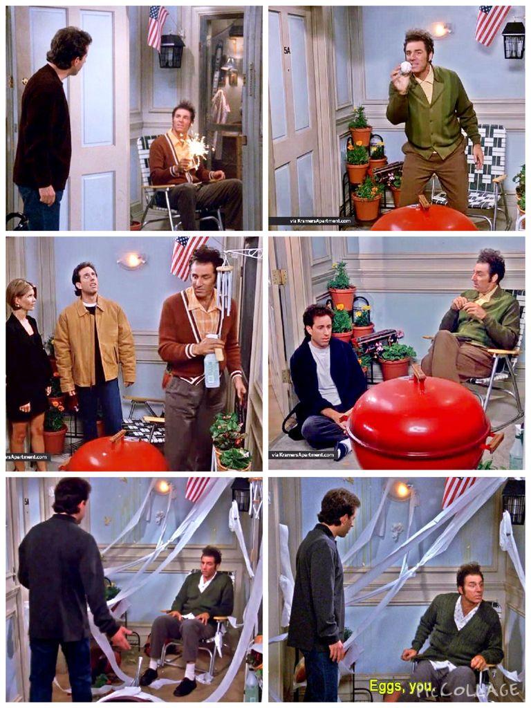 The Serenity Now) - Kramer installs the screen door outside ...