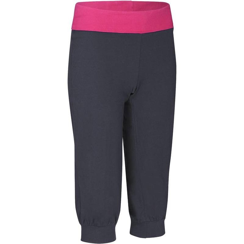 62f0b84b64ede FITNESS Fitness Grandes Tailles - Corsaire Yoga coton bio DOMYOS - Femme  DARK_GREY