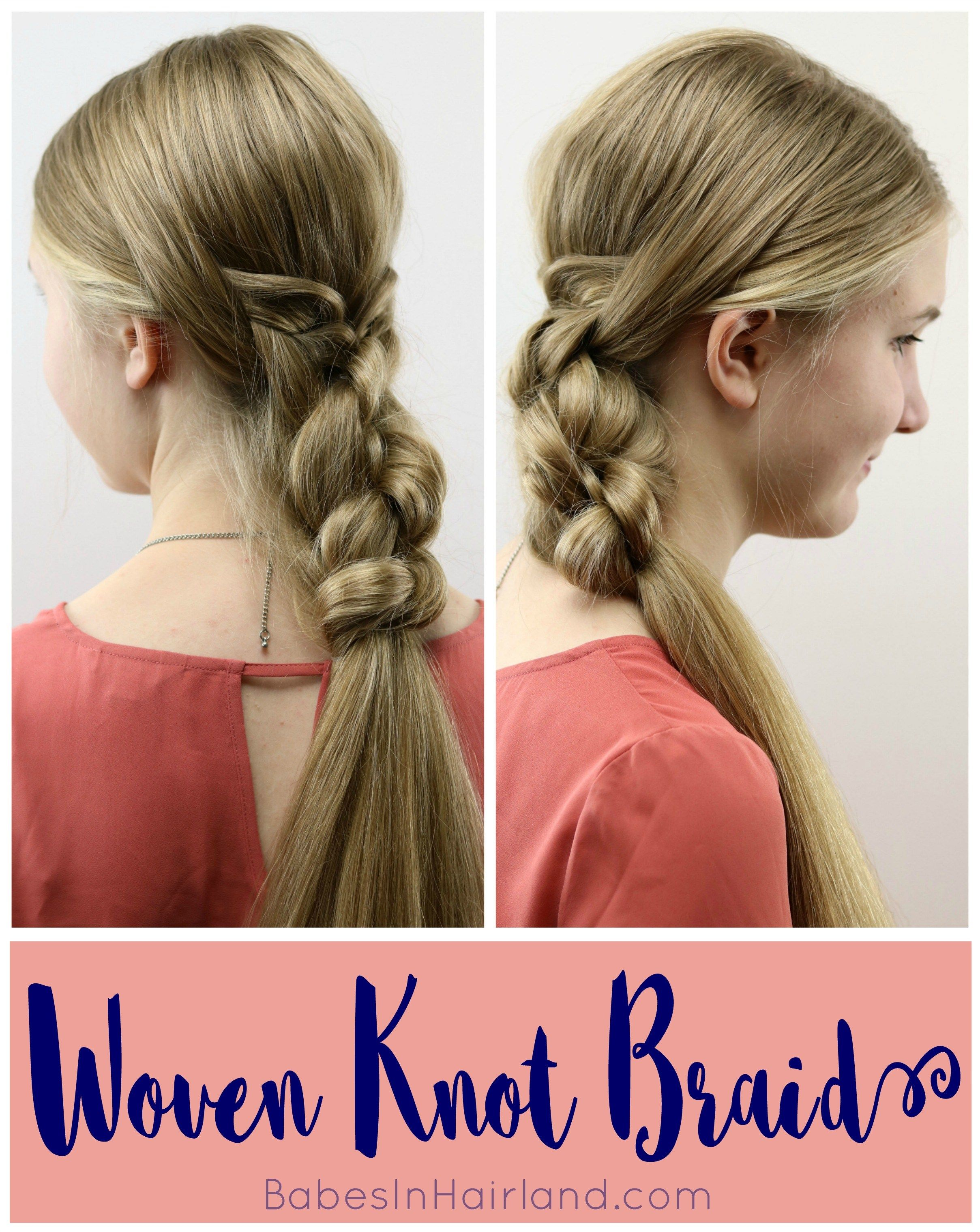 Woven Knot Braid Hairstyle