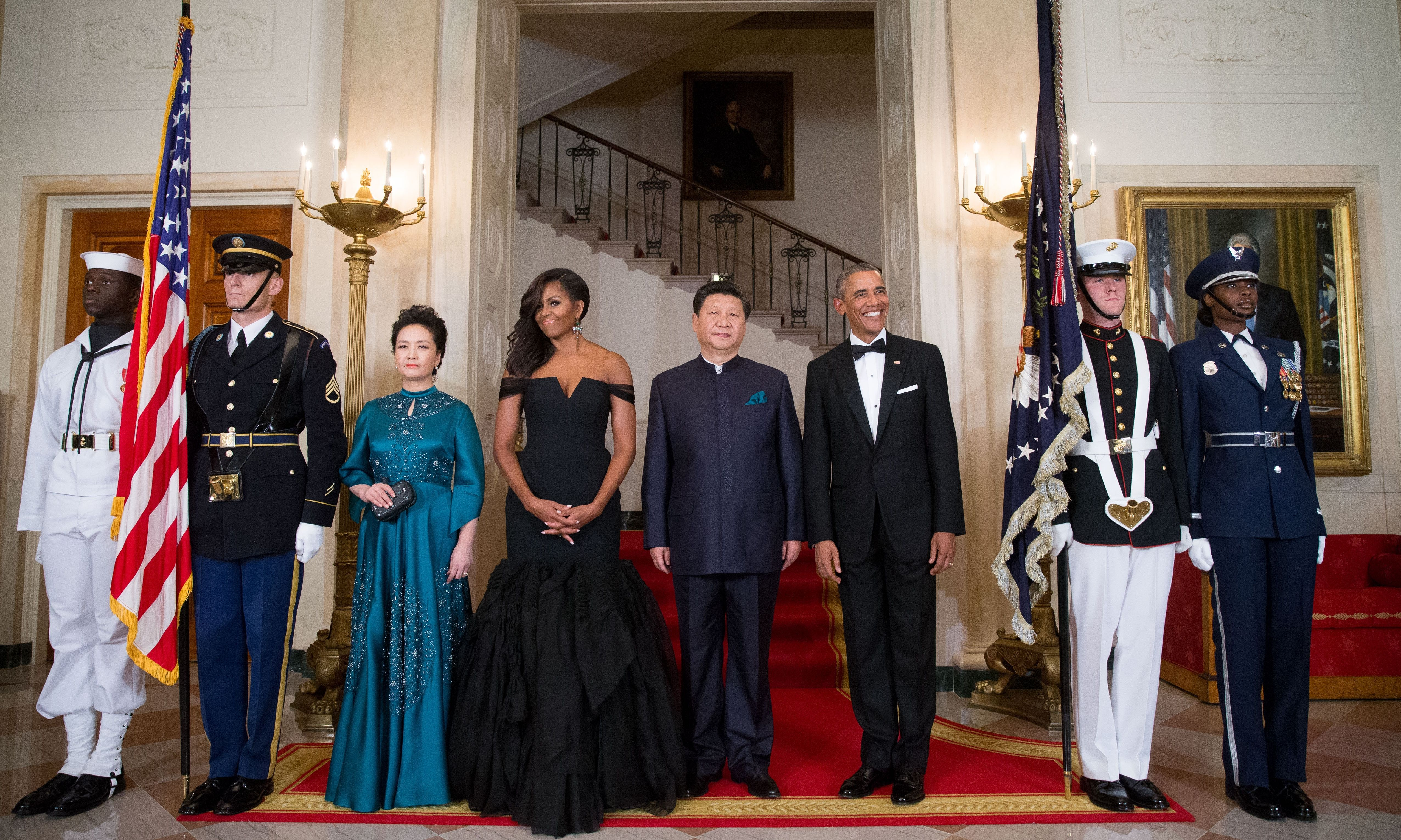 The Obamas Welcome Xi Jinping And His Wife For A State Dinner In Pictures Barack And Michelle Michelle Obama Obama