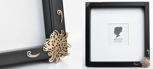 Beautifully decorated picture frames