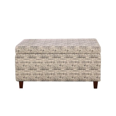 Symphony Patterned Deep Storage Ottoman Multi Color Storage