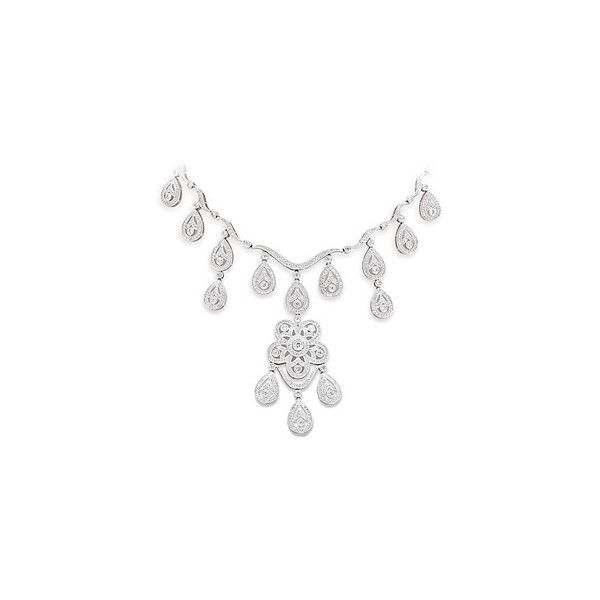 Diamond chandelier necklace 1155 ron liked on polyvore clothes diamond chandelier necklace aloadofball Choice Image