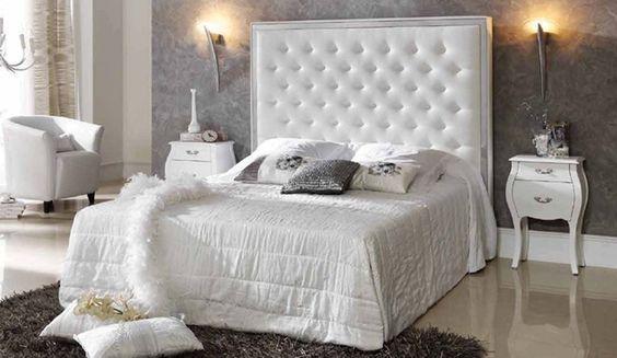 Ideas Para Decorar El Dormitorio Principal En Blanco Y Gris Mesas - Como-decorar-el-dormitorio-principal