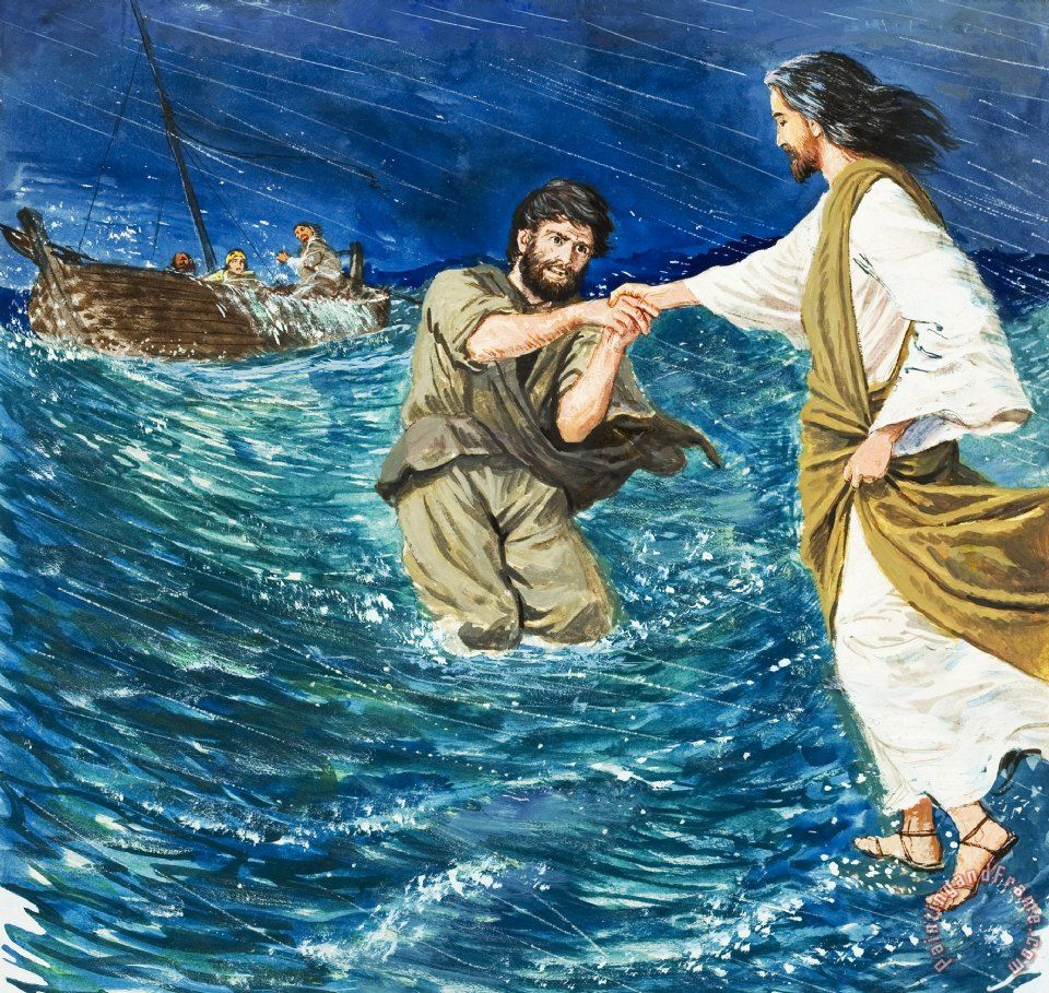 Jesus And Peter Walking On Water Search Pictures Photos