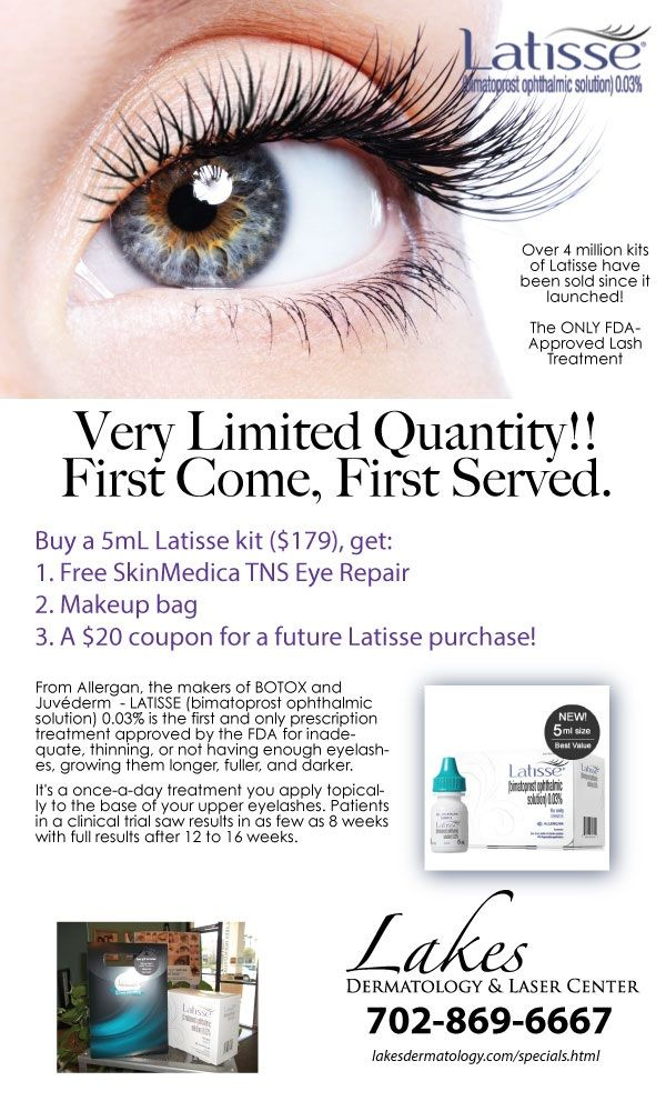 This Month S Specials Lakes Dermatology Las Vegas Nevada 702 869 6667 Skin Medica Grow Lashes Cosmetic Dermatology