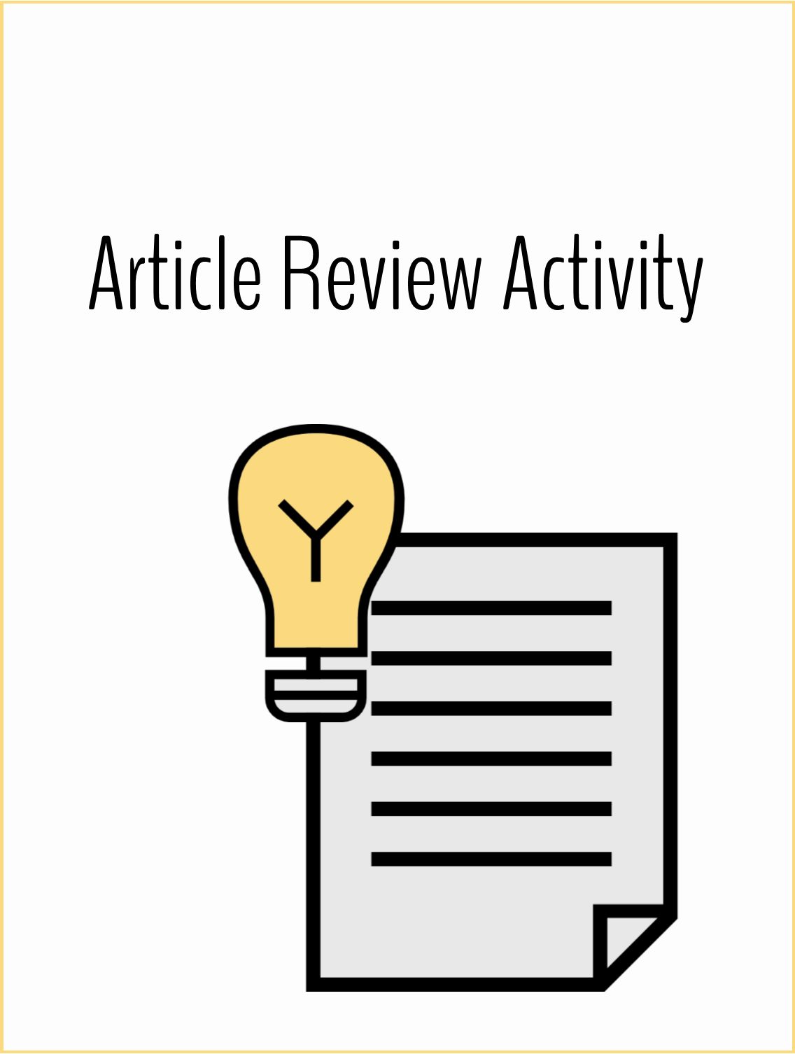 Workplace Article Review Reflection Assignment