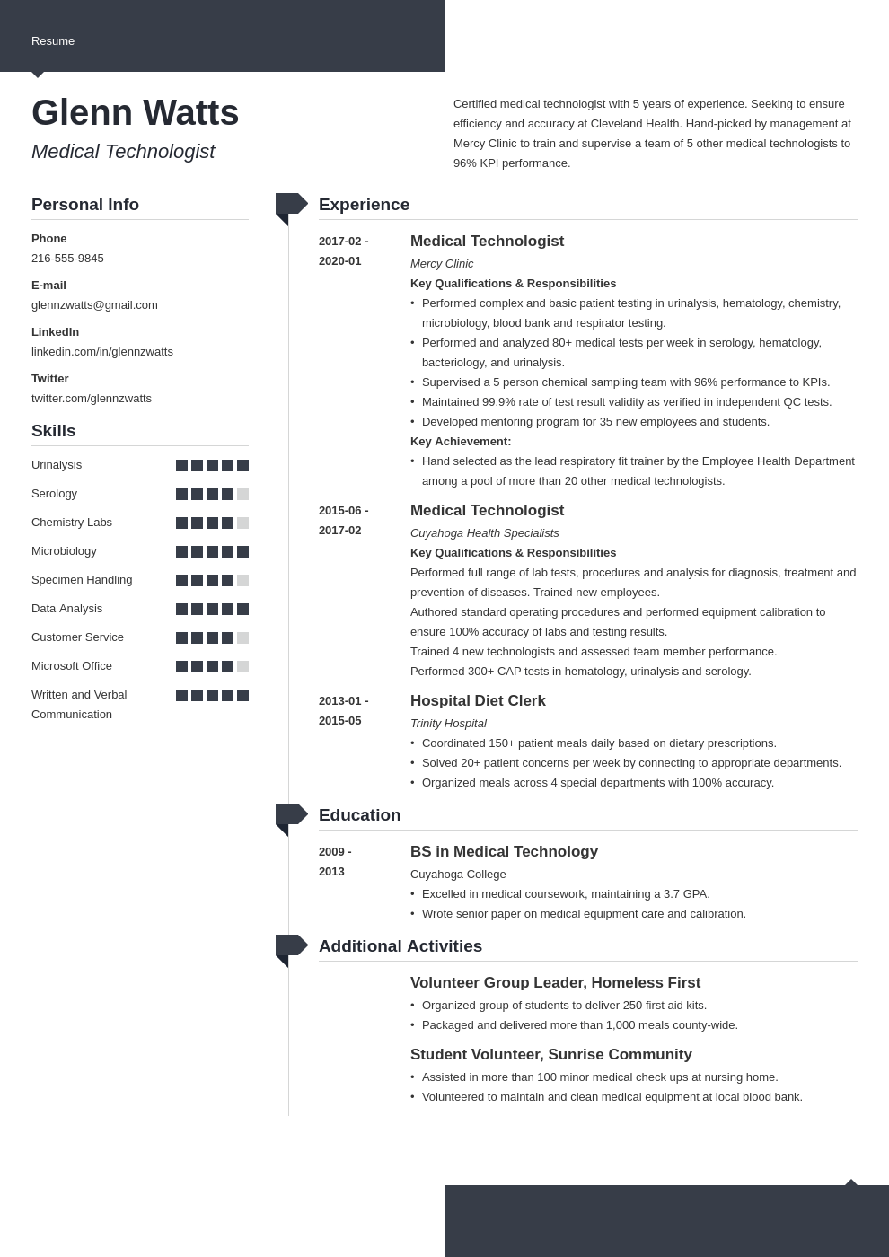 Medical Technologist Resume Example Template Modern Resume Examples Job Resume Examples Resume