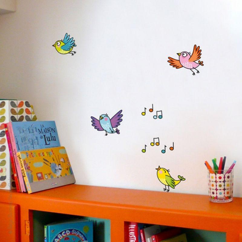 Sticker le chant d 39 avril stickers chambre enfant stickers home decor et decor - Stickers muraux chambre enfant ...