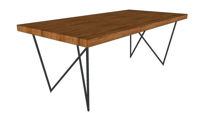 Large preview of 3D Model of Dylan dining table CB2 3D Dining