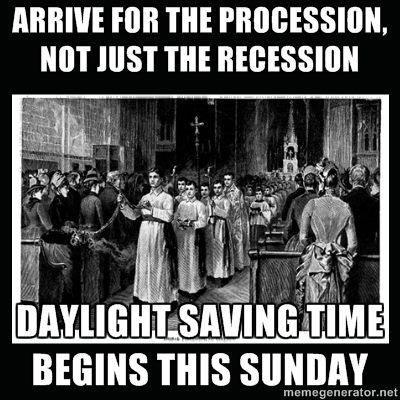 The Church Consequences Of Daylight Savings Time Exactly This Daylight Savings Daylight Savings Meme Daylight Savings Time