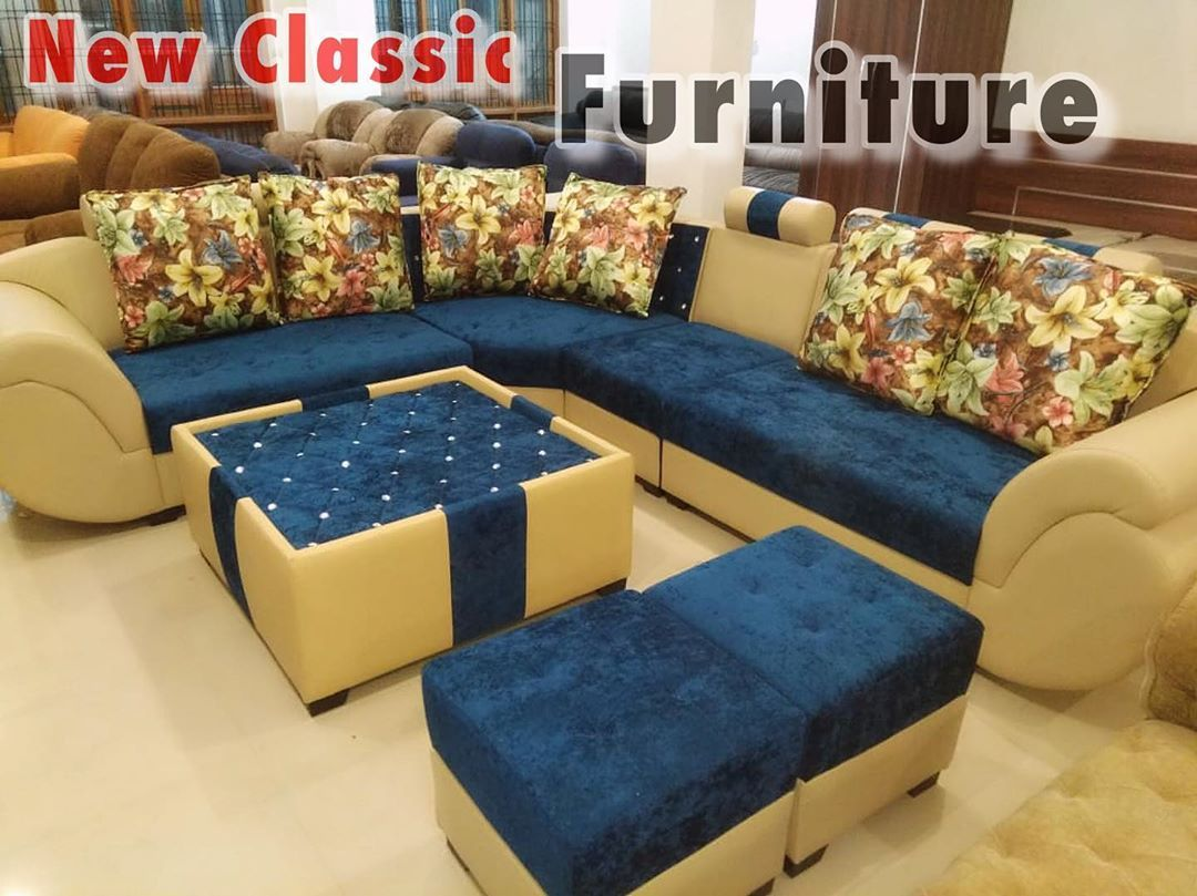 L Shape Sofa Set With Centre Table Shop Now You Can Also Dm Contact Us For More Details Of The Product New Classic Furniture Bed Decor L Shape Sofa Set