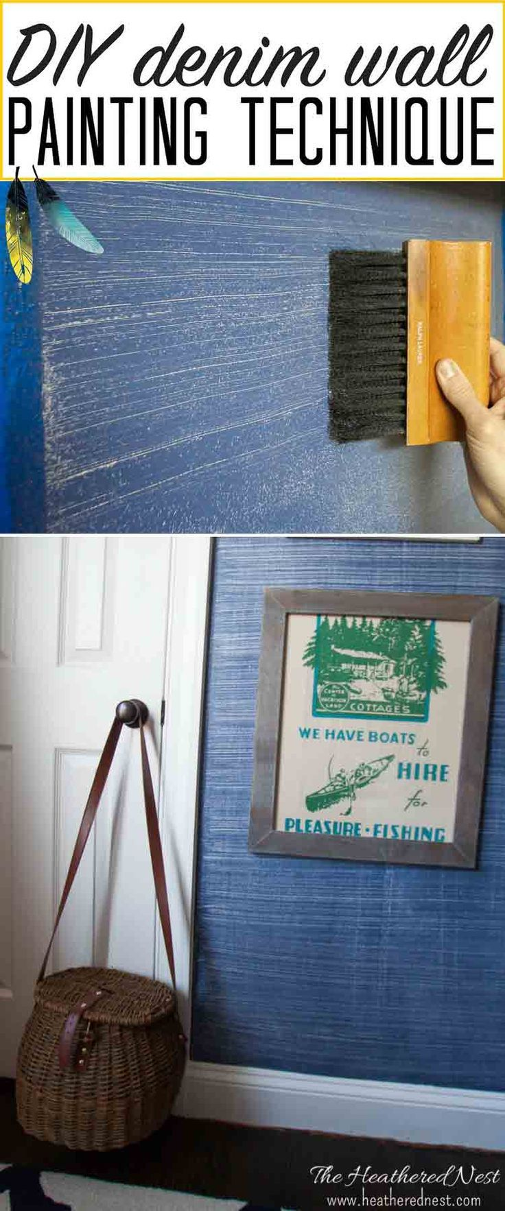 Denim Paint Faux Finish! The Look Of Wallpaper For 1/10