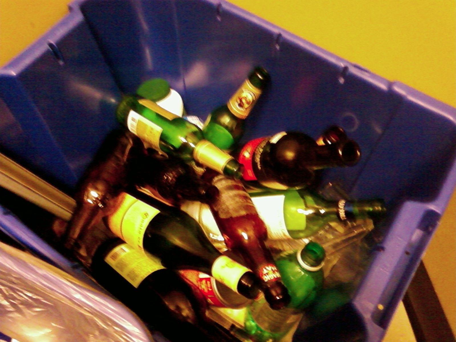 Bouteilles de vin Recycler BOUTEILLES Pinterest