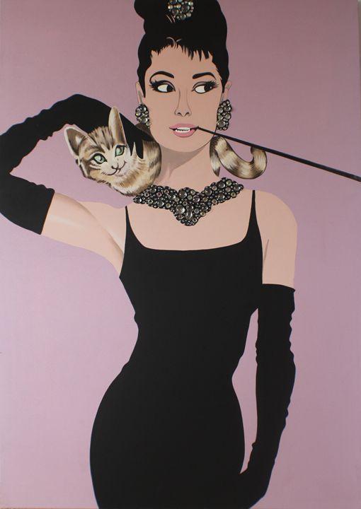 "Prop Art of ""Breakfast at Tiffany's"" - Deborah Smith Designs - Paintings & Prints… | ArtPal thumbnail"