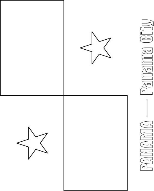 Panama Flag Coloring Page Flag Coloring Pages Panama Flag