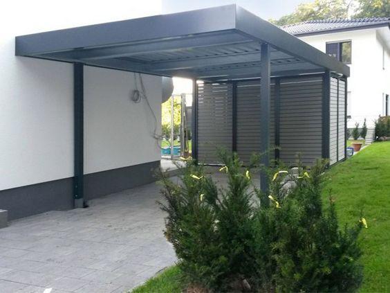 Gabionen Carport einzelcarports carceffo moderne carports garagen in ein