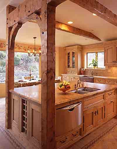 barn wood | Rustic house, Home, Timber house Flaux Log Cabin Kitchen Ideas on