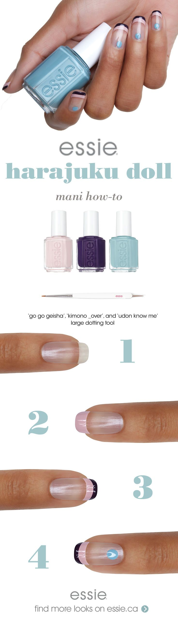 doll up your manicure with this cute take on a classic elegant ...
