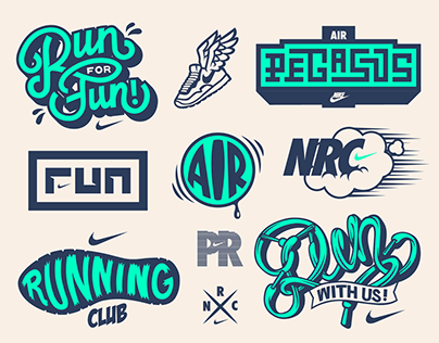 Dynamite Crew Nike Running Concept Vector Set Badge Design Logo Design Inspiration Logos Design