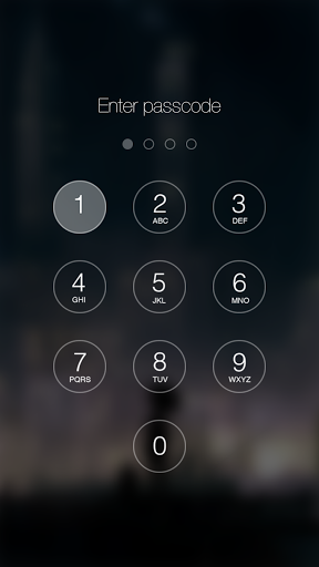 Passcode Keypad Lock screen' is one of the best parallax