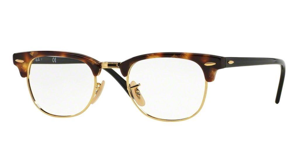 d40547443cf Ray-Ban RX5154-5494 Brown Havana Clubmaster Eyeglasses