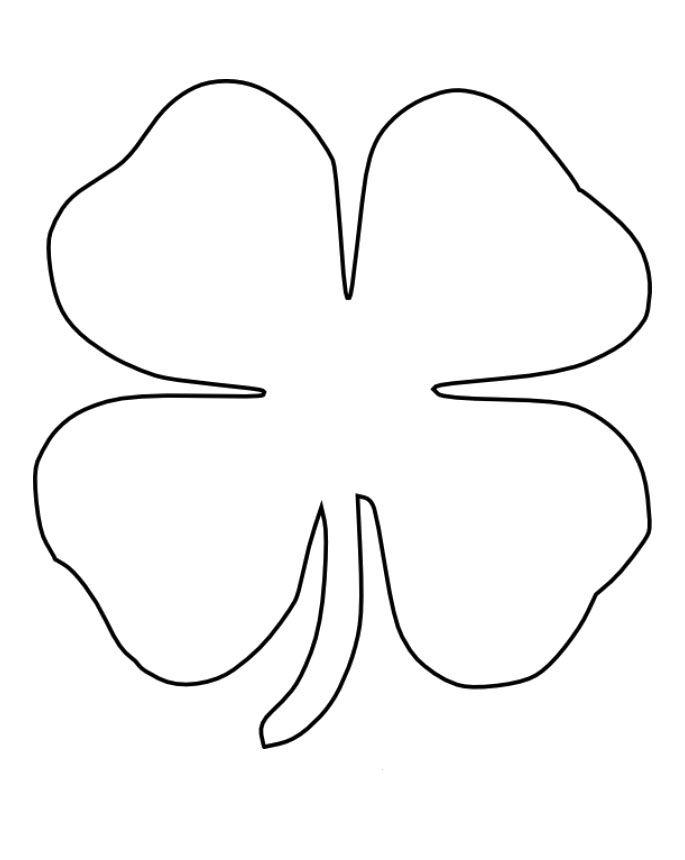 Four Leaf Clover Coloring Pages Leaf Coloring Page Four Leaf
