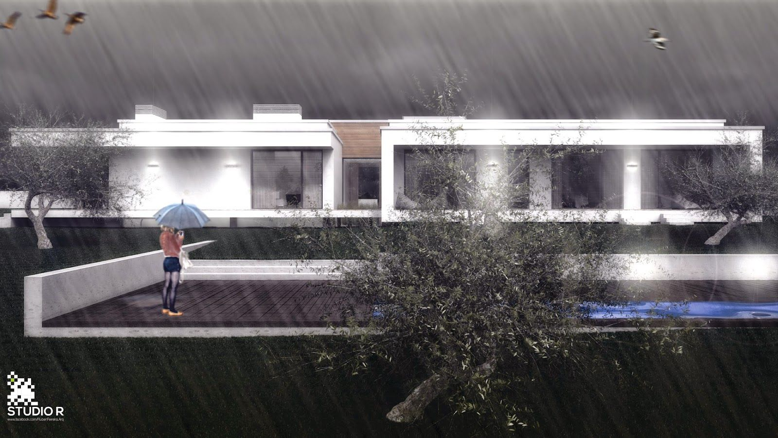Studio R   architecture: SH House   CasaSH 3D model made with #3dsmax, #vray and #photoshop