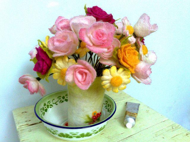 felt bouquet #felt #flower #bouquet