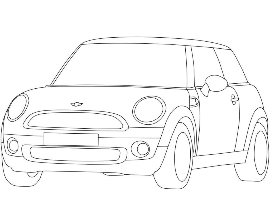 Mini Cooper Coloring Pages Free Coloring Pages Coloring For Kids Color