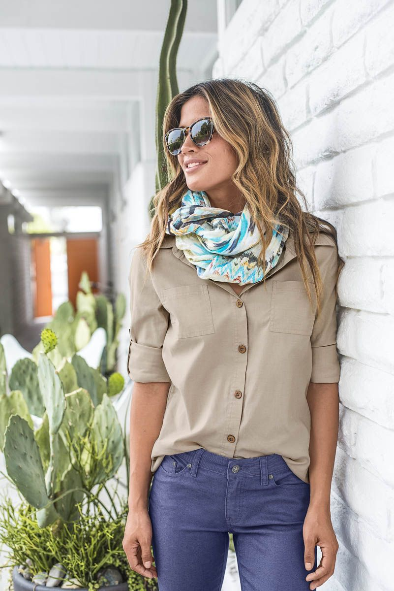 9b8c115715a Diggin  this casual sustainable style! These are total must-haves for an  outdoorsy capsule wardrobe! Head to prAna.com to shop the Sutra Shirt