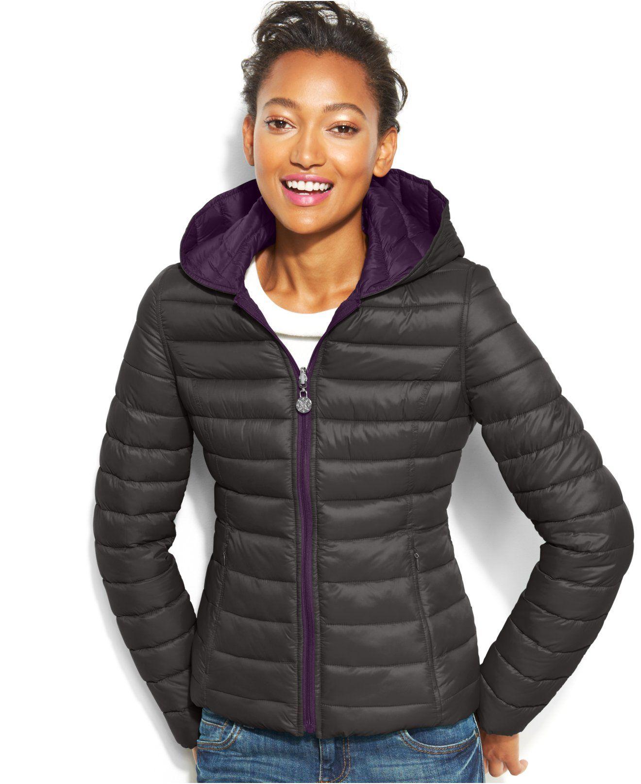 Nautica Reversible Hooded Quilted Packable Puffer Coat Coats Women Macy S Puffer Coat Women S Puffer Coats Coats For Women [ 1616 x 1320 Pixel ]