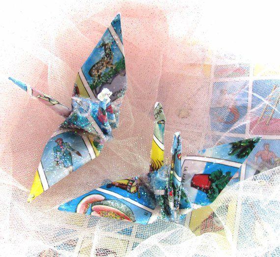 Mexican Loteria Peace Crane Bird, Wedding Cake Topper ...