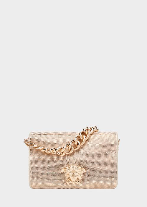 9daa2327ed Crystal Medusa Evening Sultan Bag - Gold Shoulder Bags