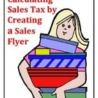 Calculating Sales Tax by Creating a Flyer #mathintherealworld