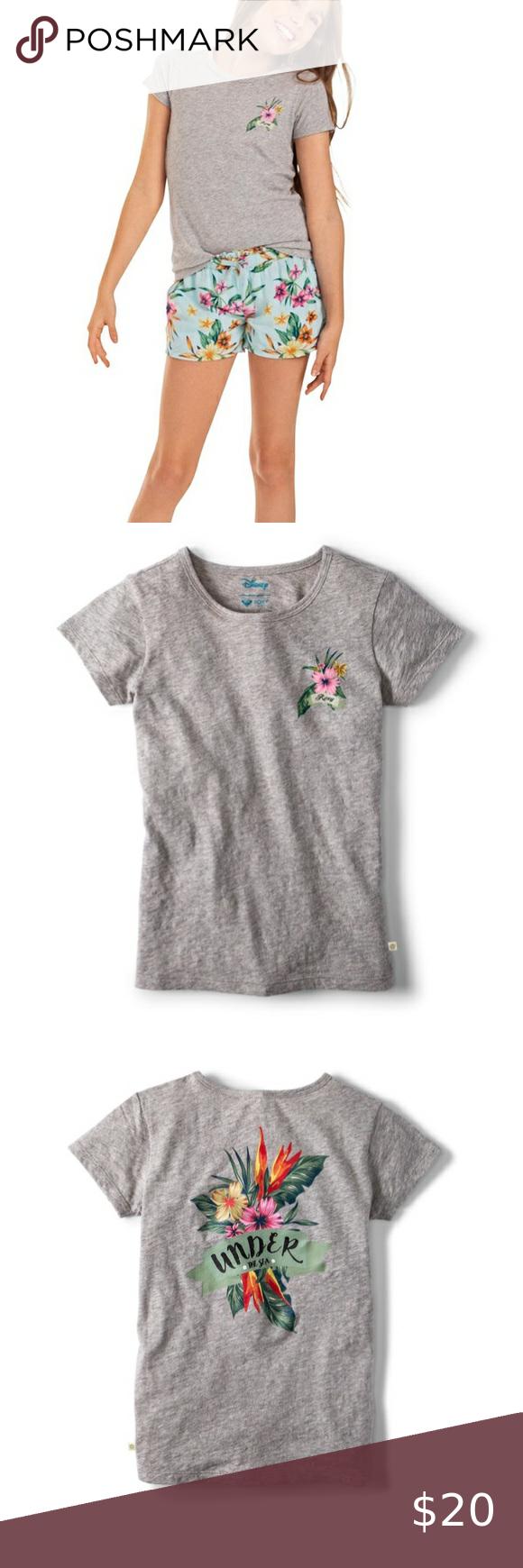 ROXY Girls Big Little Mermaid Stars Dont Shine T-Shirt