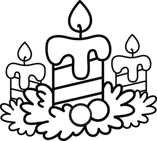 Christmas Candles Coloring Page 2 Nativity Coloring Pages Kids