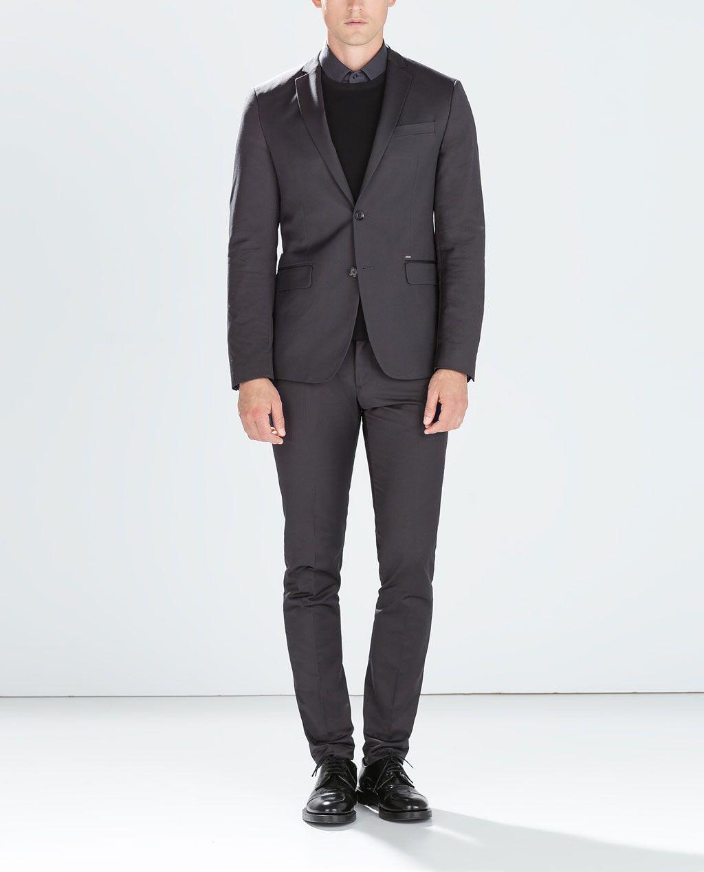 9ad69760d ZARA ANTHRACITE GREY SUIT (Blazer £89.99) (Trousers £45.99)