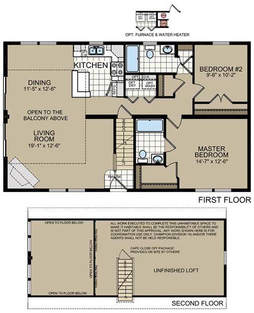New york modular home floor plans titan 551 cape chalet for Cape modular home plans
